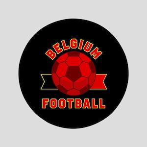 """Belgium Football 3.5"""" Button"""