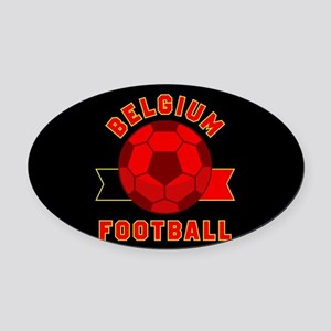 Belgium Football Oval Car Magnet