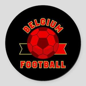 Belgium Football Round Car Magnet