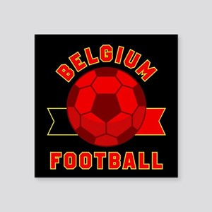 "Belgium Football Square Sticker 3"" x 3"""