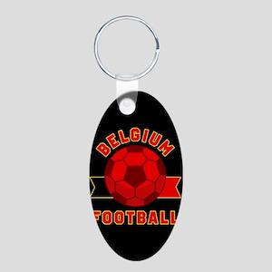 Belgium Football Aluminum Oval Keychain