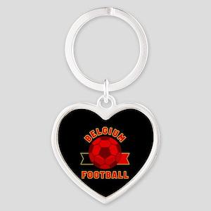 Belgium Football Heart Keychain