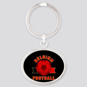 Belgium Football Oval Keychain