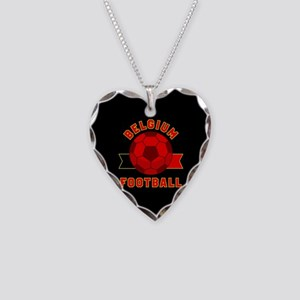 Belgium Football Necklace Heart Charm