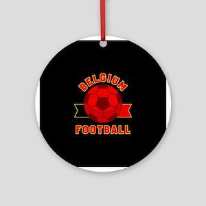 Belgium Football Round Ornament