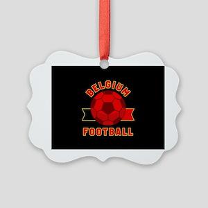 Belgium Football Picture Ornament