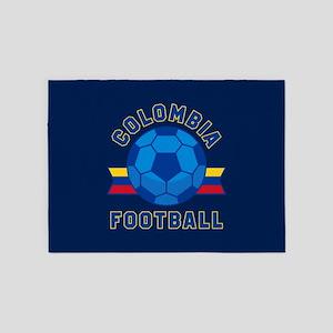 Colombia Football 5'x7'Area Rug