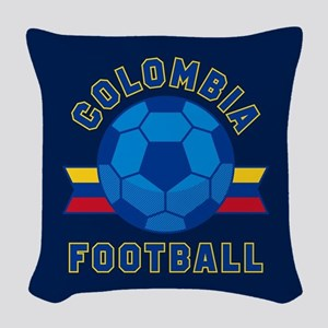 Colombia Football Woven Throw Pillow