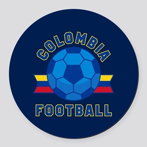 Colombia Football Round Car Magnet