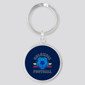Colombia Football Round Keychain