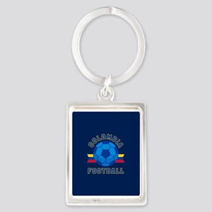 Colombia Football Portrait Keychain