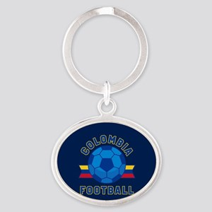 Colombia Football Oval Keychain