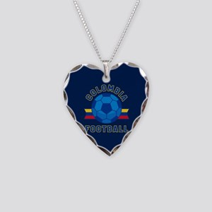Colombia Football Necklace Heart Charm