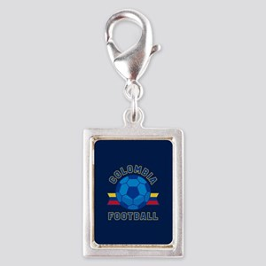 Colombia Football Silver Portrait Charm