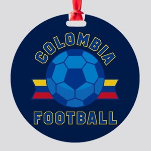 Colombia Football Round Ornament