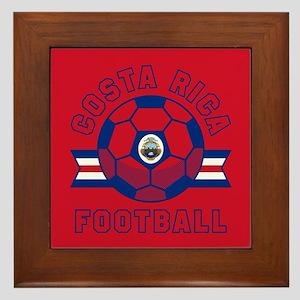 Costa Rica Football Framed Tile