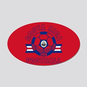 Costa Rica Football 20x12 Oval Wall Decal