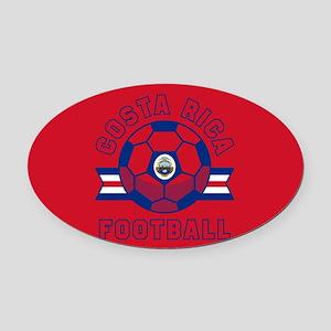 Costa Rica Football Oval Car Magnet