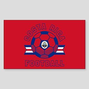 Costa Rica Football Sticker (Rectangle)