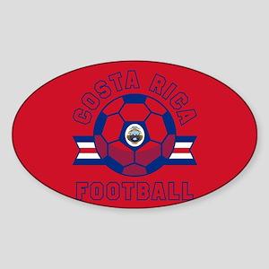 Costa Rica Football Sticker (Oval)