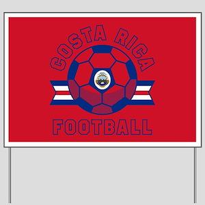 Costa Rica Football Yard Sign