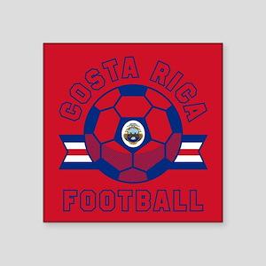 """Costa Rica Football Square Sticker 3"""" x 3"""""""