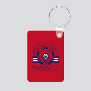 Costa Rica Football Aluminum Photo Keychain