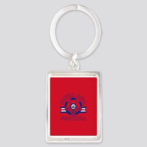 Costa Rica Football Portrait Keychain