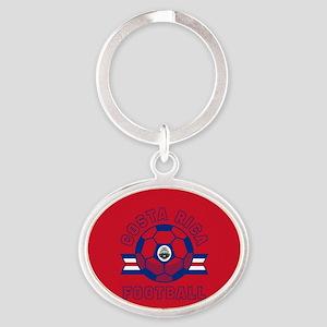 Costa Rica Football Oval Keychain