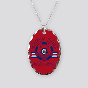 Costa Rica Football Necklace Oval Charm