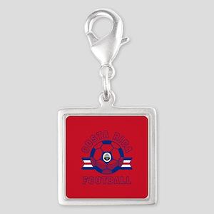 Costa Rica Football Silver Square Charm