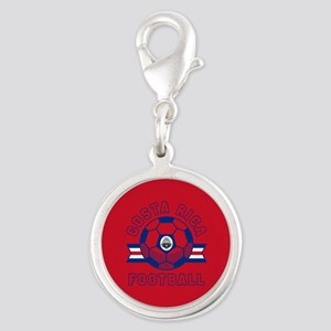 Costa Rica Football Silver Round Charm