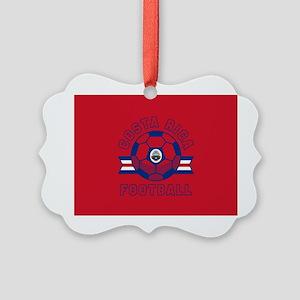Costa Rica Football Picture Ornament