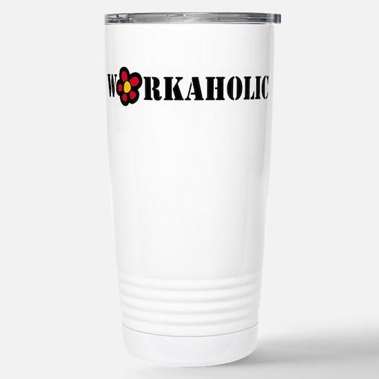 Workoholic Stainless Steel Travel Mug