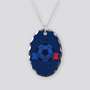 France Football Necklace Oval Charm