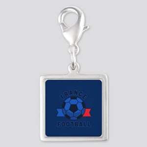 France Football Silver Square Charm
