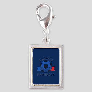 France Football Silver Portrait Charm