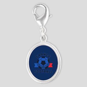 France Football Silver Oval Charm