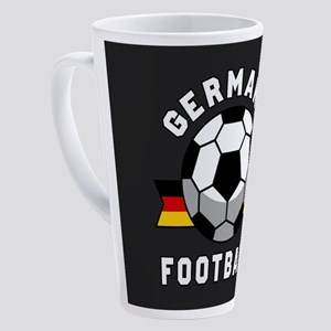 Germany Football 17 oz Latte Mug