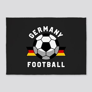 Germany Football 5'x7'Area Rug