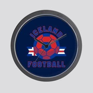 Iceland Football Wall Clock