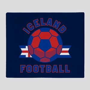 Iceland Football Throw Blanket