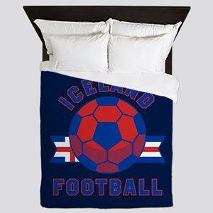 Iceland Football Queen Duvet