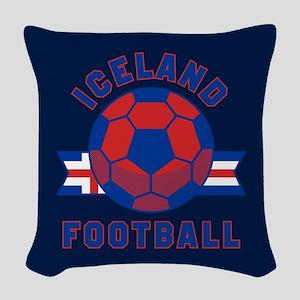 Iceland Football Woven Throw Pillow