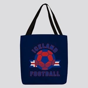 Iceland Football Polyester Tote Bag