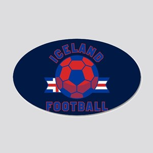 Iceland Football 20x12 Oval Wall Decal