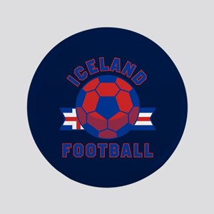 "Iceland Football 3.5"" Button"