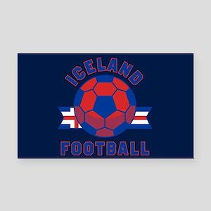 Iceland Football Rectangle Car Magnet