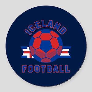 Iceland Football Round Car Magnet