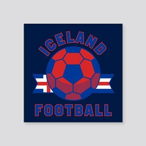 "Iceland Football Square Sticker 3"" x 3"""